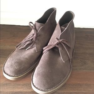 Clarks Suede Boot Dark Brown Size 11 Mens